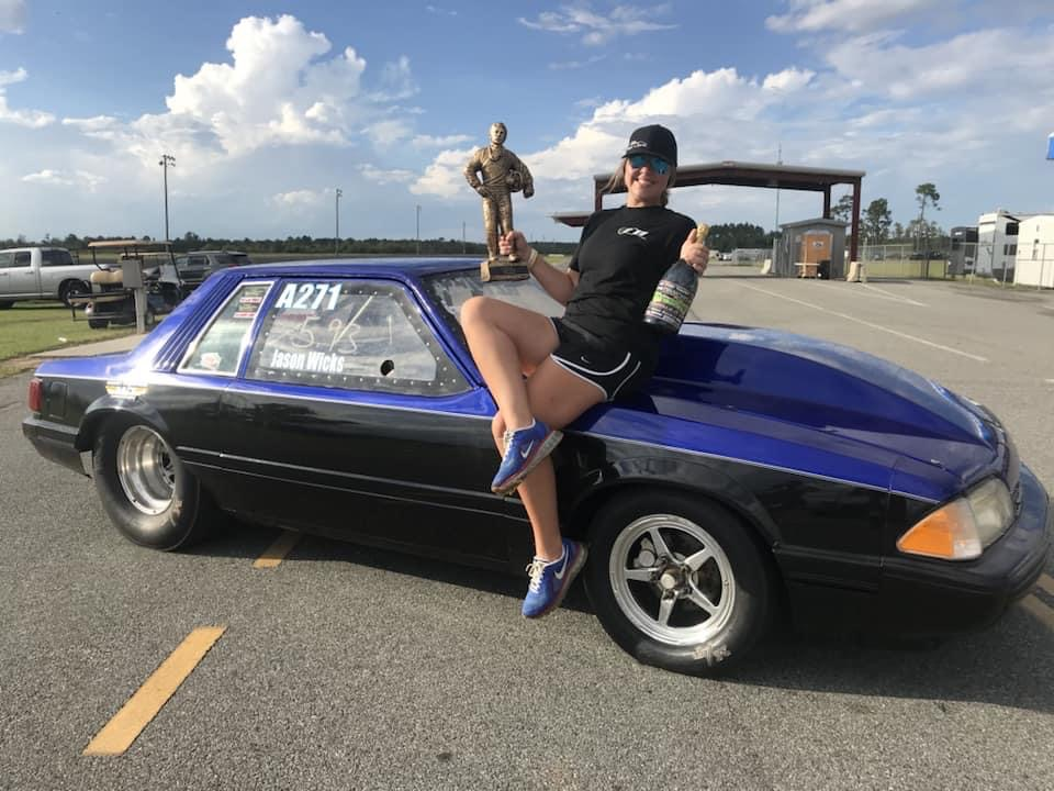 Sadie with her Mustang