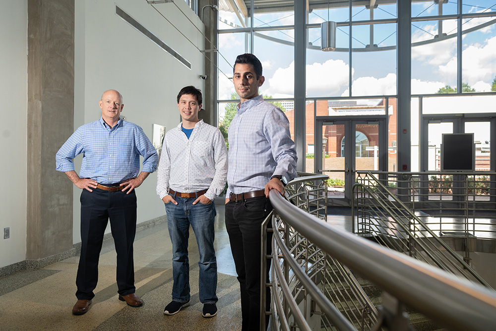 Professor Shannon Yee and GTRI Research Scientists Kevin Caravati, and Ilan Stern