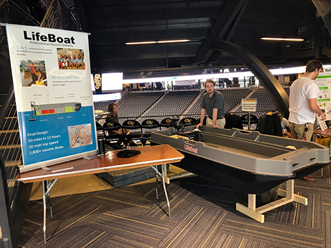 Team Lifeboat Capstone display and prototype