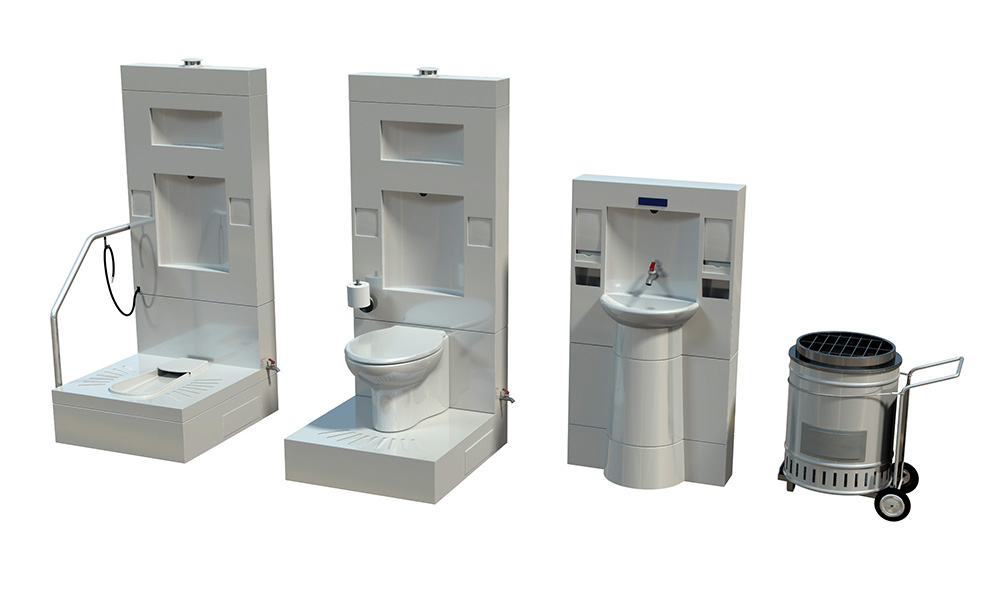 Reinvented toilet concept drawings